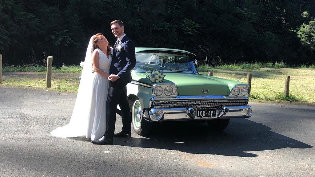Classic car wedding 1