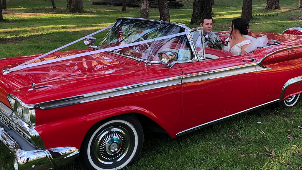 Classic car wedding 2
