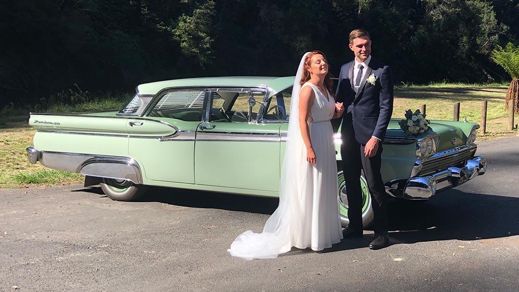 Classic car wedding 3
